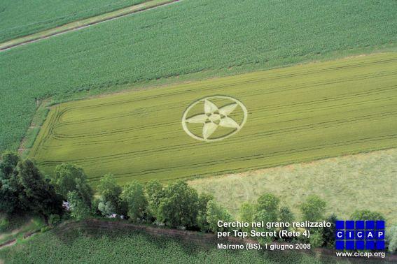Cerchio nel grano realizzato dal CICAP per Top Secret