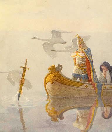 Re Artù si reca all'isola di Avalon, dove secondo la leggenda riposa.