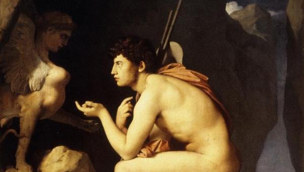 """""""Edipo e la Sfinge"""", un olio del 1827 di Jean Auguste Dominique Ingres (Louvre, Parigi)"""