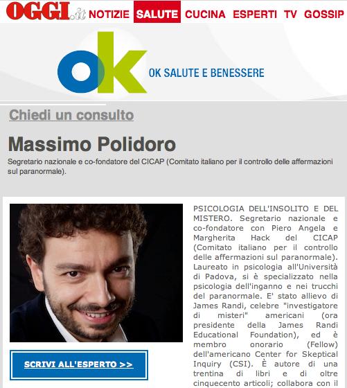 Ok Salute E Benessere Massimo Polidoro L Esploratore Dell Insolito