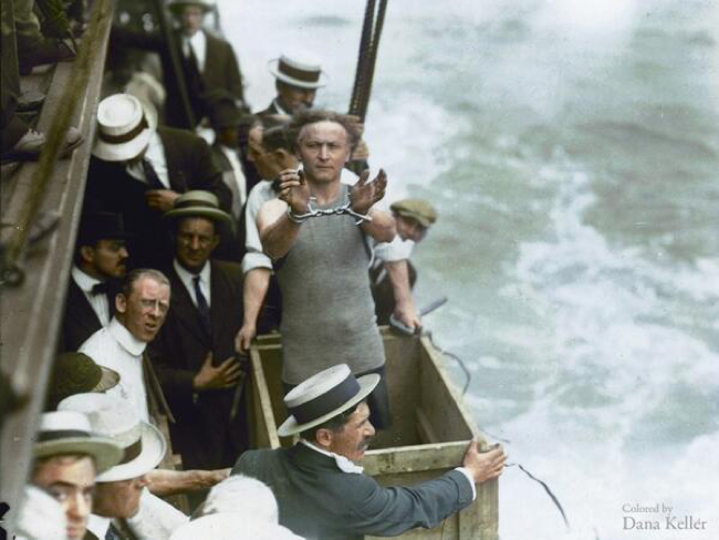 Harry Houdini in color!