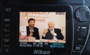 """Piero Angela e Massimo Polidoro a Roma per la presentazione de """"Il passato è una bestia feroce""""."""