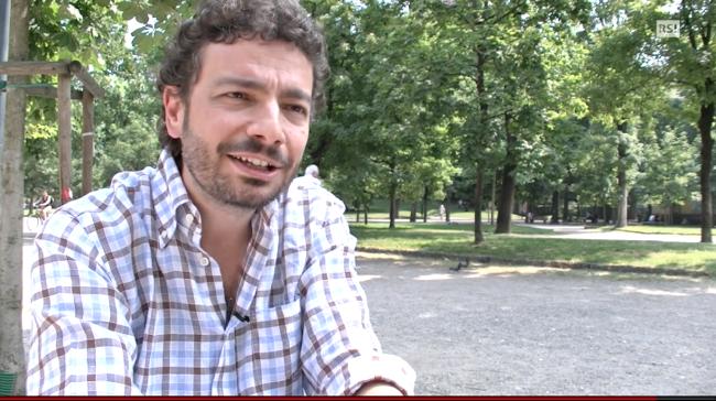 """Intervista alla TV Svizzera italiana per """"Il passato è una bestia feroce"""""""