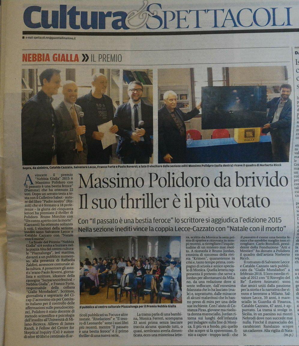 Massimo Polidoro da brivido. Il suo thriller è il più votato