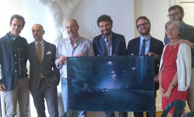 Al Premio Nebbia Gialla 2015, da sinistra:
