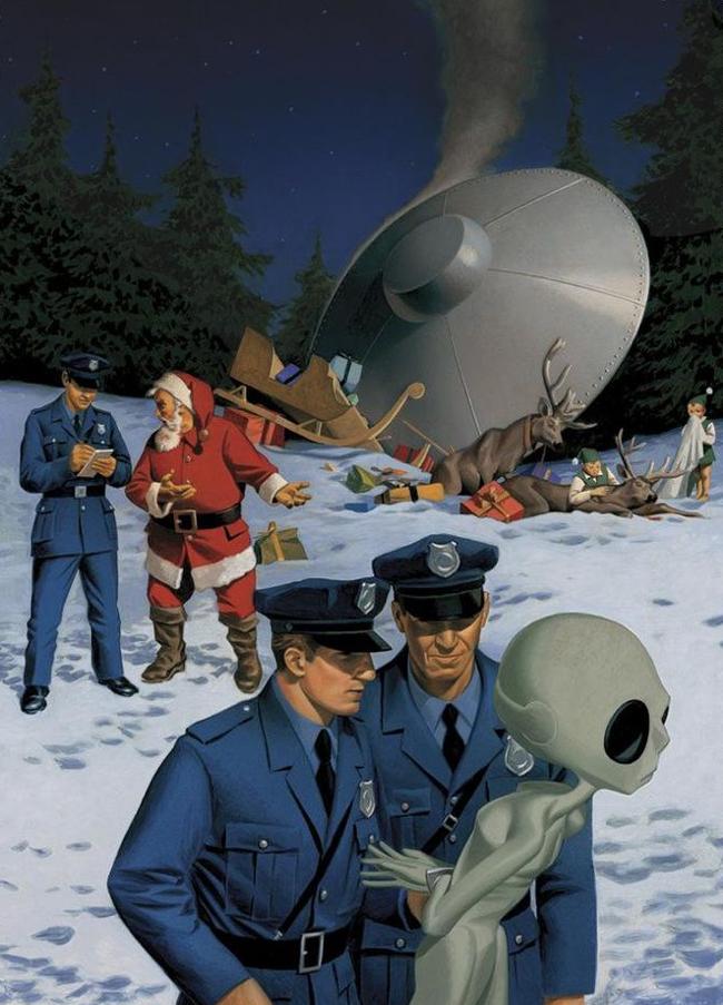 UFO santa claus