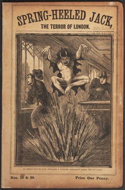 Uno dei libretti dedicati a Spring-Heeled Jack.