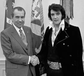 Elvis Presley and Richard Nixon
