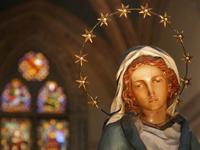 Statua di Maria a Santa Croce: Firenze