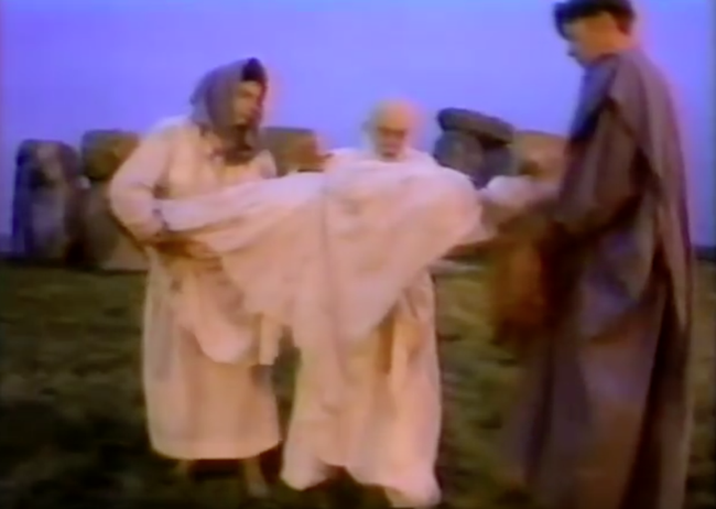 James Randi e Massimo Polidoro a Stonehenge