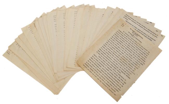 Il manoscritto come compare nel catalogo dell'asta.