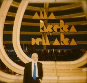 """James Randi ospite di """"Alla ricerca dell'Arca"""", lo storico programma di Mino Damato."""