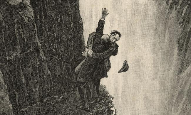 sherlock holmes moriarty Reichenbach falls