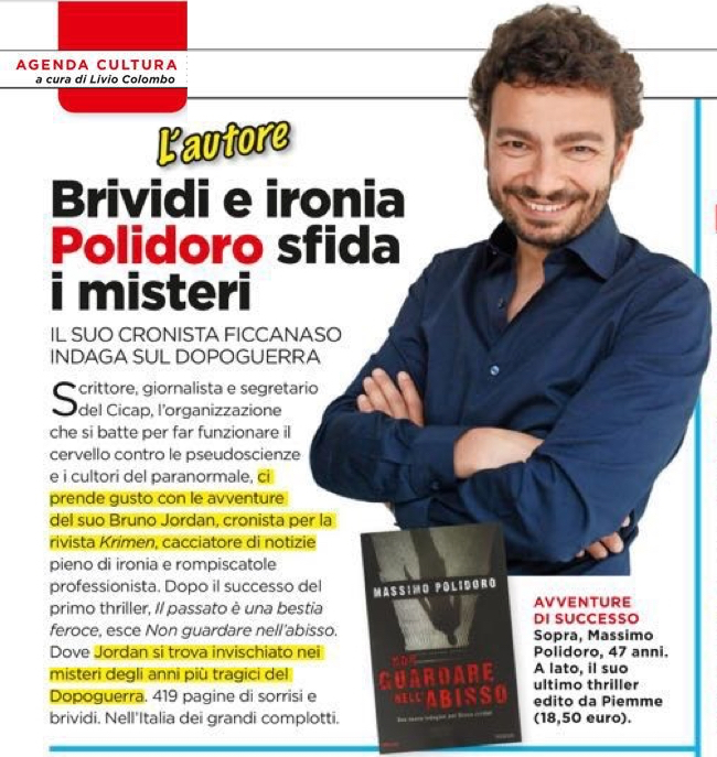 "Massimo Polidoro su ""Oggi"""