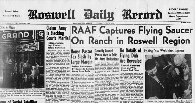 L'articolo che diede il via alle teorie della cospirazione urologica su Roswell.