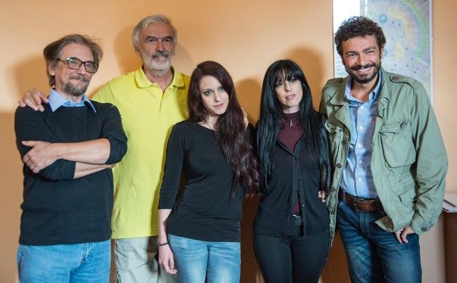 Da sinistra: Luigi Garlaschelli, Alberto Serena, Amalia Maruca, Carmela Paola e Massimo Polidoro (foto: Roberta Baria).
