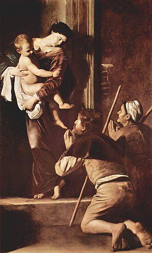 """""""La Madonna di Loreto"""" di Caravaggio (1604-1606)."""