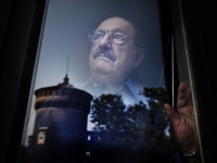 Umberto Eco portrayed in his house in the center of Milan. © Andrea Frazzetta for The Times